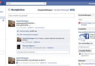 Viele Frauen surfen auf Facebook