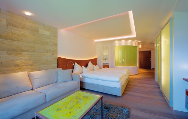 """Foto von einem Zimmer im Wellnesshotel """"Der Krallerhof"""" in Leogang"""