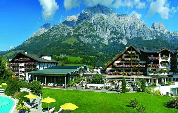 """Das Wellnesshotel """"Der Krallerhof"""" im Bundesland Salzburg liegt in Leogang"""