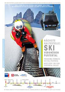 Im Skigebiet Kronplatz im Pustertal verkehrt ab sofort ein Skizug