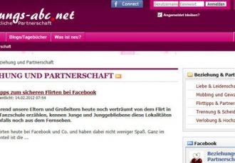 Die Webseite beziehungs-abc.net liefert Tipps rund Beziehung und Partnerschaft