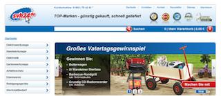 Screenshot der Website des Werkzeugonlineshops Svh24