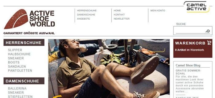 Die Webseite activeshoeworld.de bietet Schuhe für Frauen und Männer in Hülle und Fülle