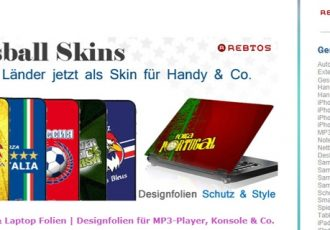 Auf der Seite Rebtos.de findet man coole Skins für Handy und Co.