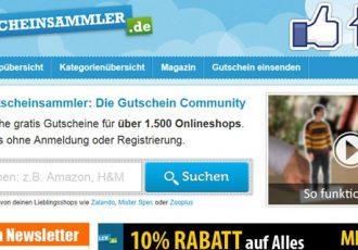 Die Webseite Gutscheinsammler.de ist eine große Gutschein Community
