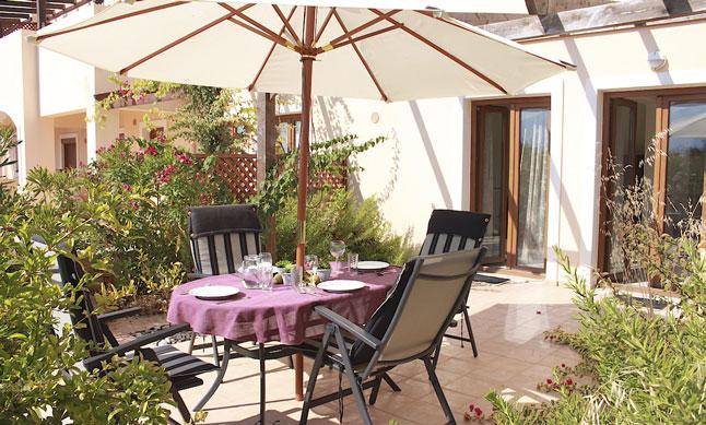 Garten der Ferienwohnung Meerblick auf Kreta