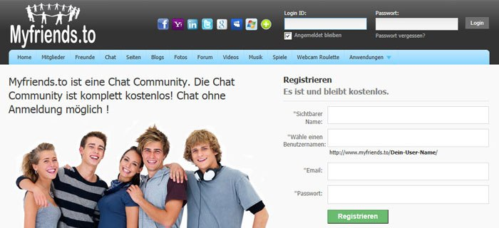 Chatten ohne email