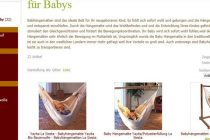 Babyhängematten sind in vielen Familien beliebt