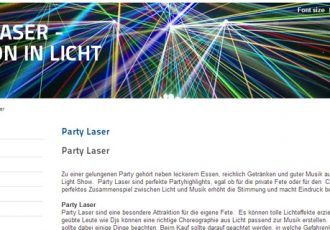 Laser - das Party-Highlight