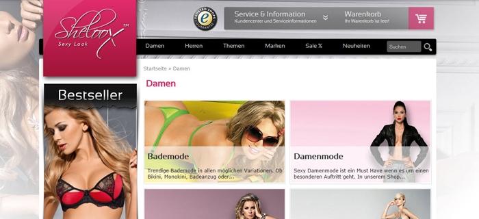 Dessous-Shop sheloox.de